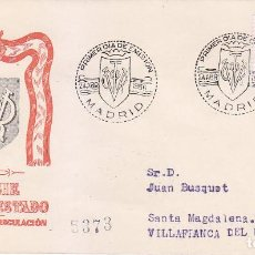Sellos: GENERAL FRANCO 1955-1956 (EDIFIL 1154) EN SPD CIRCULADO DEL SERVICIO FILATELICO. RARO ASI.. Lote 50446809
