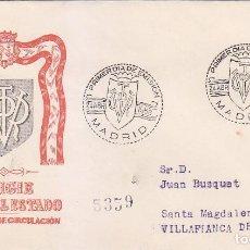 Sellos: GENERAL FRANCO 1955-1956 (EDIFIL 1154) EN SPD CIRCULADO DEL SERVICIO FILATELICO. RARO ASI.. Lote 68256553