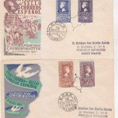 Sellos: CENTENARIO DEL SELLO ESPAÑOL 1950 (EDIFIL 1075/76 Y 1079/80) EN DOS SPD DEL SERVICIO FILATELICO.. Lote 68415073