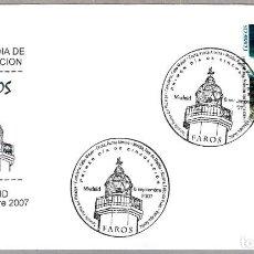 Sellos: MATASELLOS PRIMER DIA - FAROS. MADRID 2007. Lote 69667273