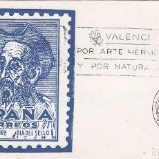 Sellos: DON QUIJOTE CERVANTES SEMANA CERVANTINA, VALENCIA 1967. MATASELLOS EN RARO SOBRE ILUSTRADO.. Lote 70033241