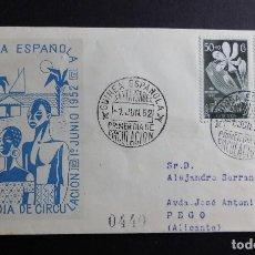 Sellos: SOBRE PRIMER DIA DE CIRCULACION GUINEA ESPAÑOLA 1 DE JUNIO DE 1952 MATASELLOS CONMEMORATIVO. Lote 70050973
