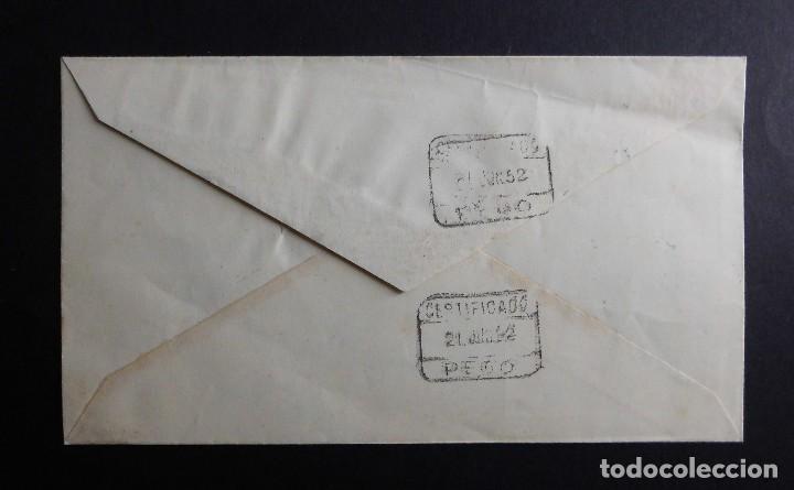 Sellos: SOBRE PRIMER DIA DE CIRCULACION GUINEA ESPAÑOLA 1 DE JUNIO DE 1952 MATASELLOS CONMEMORATIVO - Foto 2 - 70050973