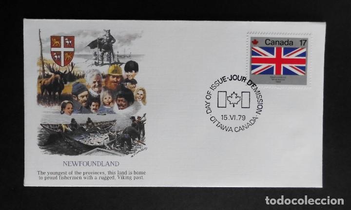 Sellos: CANADA BANDERAS PROVINCIALES Y TERRITORIALES 15 VI 1979, FDC Provincial and Territorial Flag Stamps - Foto 2 - 70067165