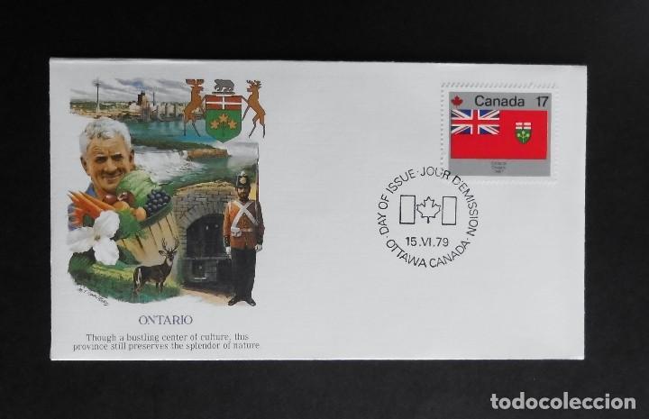 Sellos: CANADA BANDERAS PROVINCIALES Y TERRITORIALES 15 VI 1979, FDC Provincial and Territorial Flag Stamps - Foto 4 - 70067165