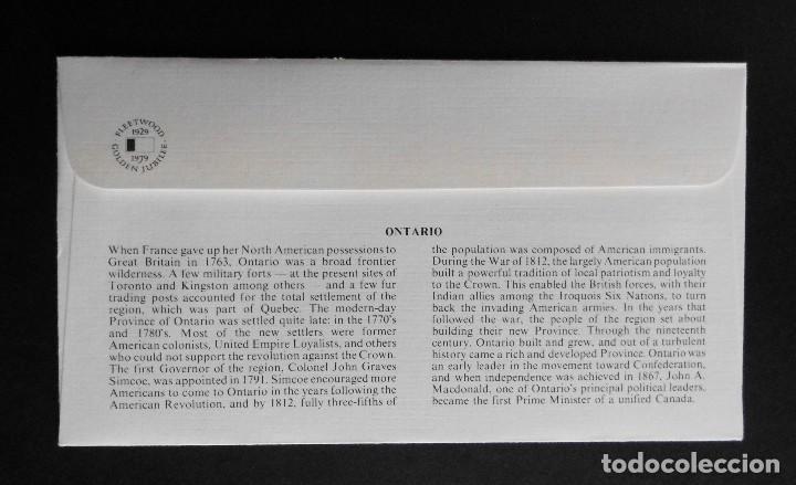 Sellos: CANADA BANDERAS PROVINCIALES Y TERRITORIALES 15 VI 1979, FDC Provincial and Territorial Flag Stamps - Foto 5 - 70067165