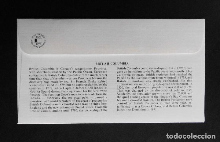 Sellos: CANADA BANDERAS PROVINCIALES Y TERRITORIALES 15 VI 1979, FDC Provincial and Territorial Flag Stamps - Foto 7 - 70067165