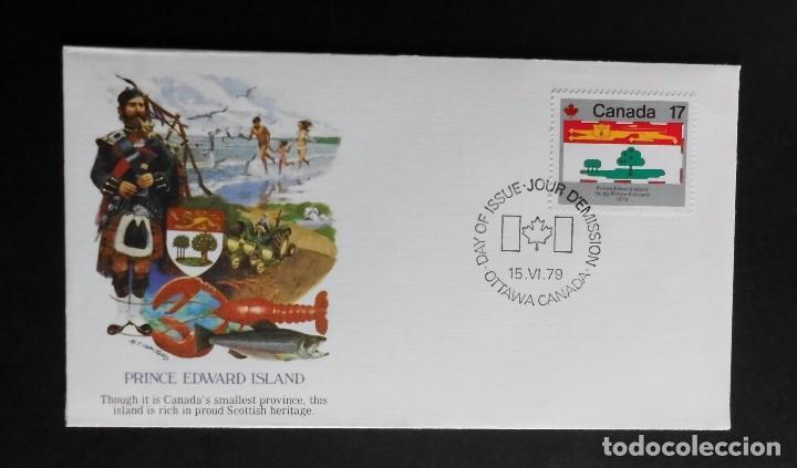 Sellos: CANADA BANDERAS PROVINCIALES Y TERRITORIALES 15 VI 1979, FDC Provincial and Territorial Flag Stamps - Foto 8 - 70067165