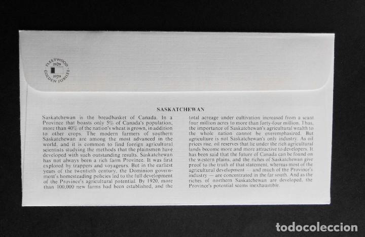 Sellos: CANADA BANDERAS PROVINCIALES Y TERRITORIALES 15 VI 1979, FDC Provincial and Territorial Flag Stamps - Foto 11 - 70067165