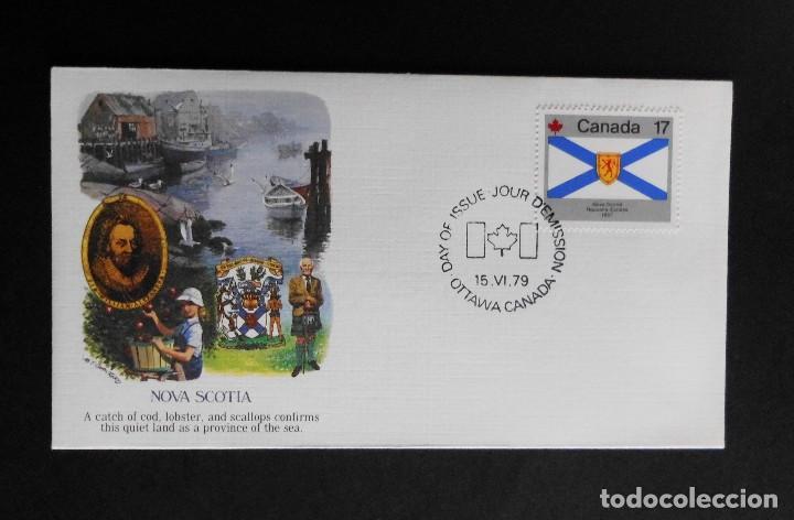 Sellos: CANADA BANDERAS PROVINCIALES Y TERRITORIALES 15 VI 1979, FDC Provincial and Territorial Flag Stamps - Foto 16 - 70067165