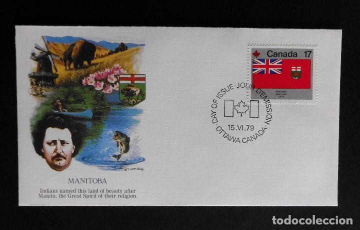Sellos: CANADA BANDERAS PROVINCIALES Y TERRITORIALES 15 VI 1979, FDC Provincial and Territorial Flag Stamps - Foto 20 - 70067165