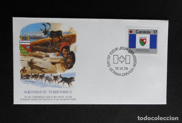 Sellos: CANADA BANDERAS PROVINCIALES Y TERRITORIALES 15 VI 1979, FDC Provincial and Territorial Flag Stamps - Foto 22 - 70067165