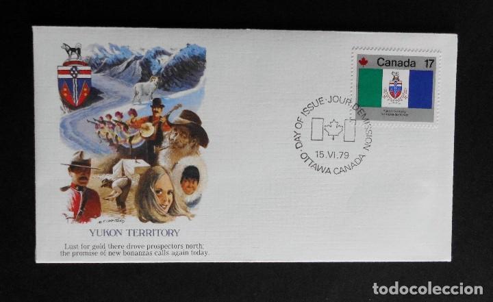 Sellos: CANADA BANDERAS PROVINCIALES Y TERRITORIALES 15 VI 1979, FDC Provincial and Territorial Flag Stamps - Foto 24 - 70067165