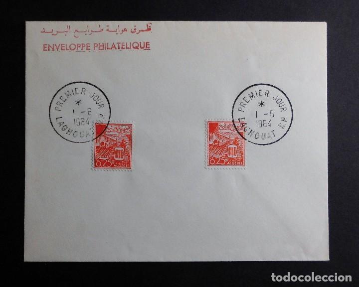 ARGELIA FDC DESARROLLO SOCIAL AGRICULTURA 01 JUNIO 1964 (Sellos - Historia Postal - Sello Español - Sobres Primer Día y Matasellos Especiales)