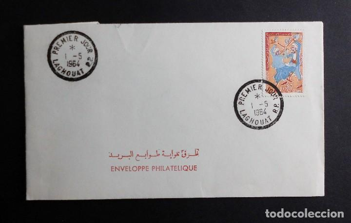 ARGELIA FDC DIA DEL TRABAJO 1 MAYO 1964 (Sellos - Historia Postal - Sello Español - Sobres Primer Día y Matasellos Especiales)