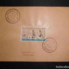 Sellos: ARGELIA FDC PROTECCION DE LOS MONUMENTOS DE NUBIA 28 JUNIO 1964. Lote 70070421