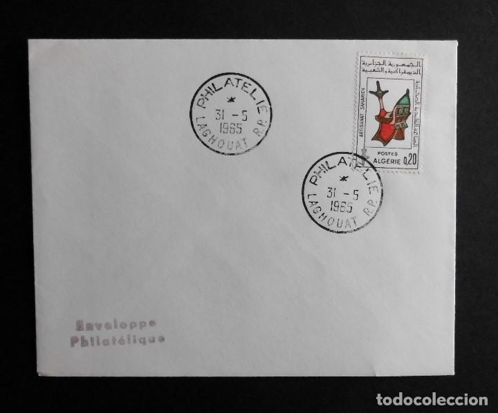 ARGELIA FDC ARTESANIA DEL SAHARA 31 MAYO 1965 (Sellos - Historia Postal - Sello Español - Sobres Primer Día y Matasellos Especiales)