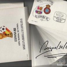 Sellos - ESPAÑA 82 año 1982 - COPA MUNDIAL DE FUTBOL- 52 SOBRES MATASELLOS DE CADA PARTIDO - COMPLETO -FOTOS - 139417449