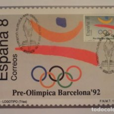 Sellos: POSTAL SELLO PRIMER DIA COMMEMORATIVO PRE-OLIMPICA BARCELONA 92 XV CERTAMEN IBEROAMERICANO OLIMPIADA. Lote 72333355