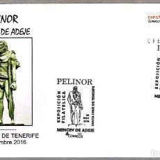 Sellos: MATASELLOS PELINOR - MENCEY DE ADEJE. SANTA CRUZ DE TENERIFE, CANARIAS, 2016. Lote 73539071