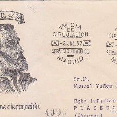 Sellos: SAN FRANCISCO JAVIER IV CENTENARIO 1952 (EDIFIL 1118) EN SPD CIRCULADO DEL SERVICIO FILATELICO.. Lote 74202991