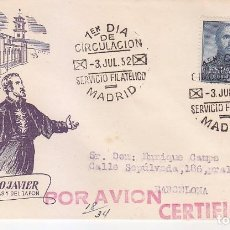 Sellos: SAN FRANCISCO JAVIER IV CENTENARIO 1952 (EDIFIL 1118) EN SOBRE PRIMER DIA CIRCULADO DE ALFIL.. Lote 74203967