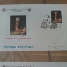 Sellos: GOYA 4 SOBRES ENTERO POSTAL FERIA NACIONAL DEL SELLO MADRID. Lote 74319814