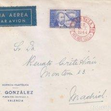 Sellos: DR THEBUSSEM DIA DEL SELLO FIESTA DE LA HISPANIDAD 1944 (EDIFIL 983) EN SPD MATASELLOS VALENCIA RARO. Lote 74351331