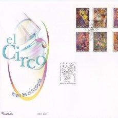 Sellos: EL CIRCO 2005 (EDIFIL 4133/40) EN SOBRE PRIMER DIA DEL SERVICIO FILATELICO DE CORREOS. GMPM.. Lote 75430751