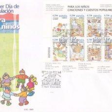 Sellos: CANCIONES Y CUENTOS POPULARES PARA LOS NIÑOS 2005 (EDIFIL 4154) RARO SPD SERVICIO FILATELICO. GMPM.. Lote 75487307