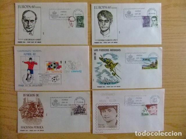 Sellos: ESPAÑA SPAIN ESPAGNE 1980 FDC AÑO COMPLETO sin HOJAS BLOQUE 22 FDC - Edifil nº 2558 /2598 VER FOTOS - Foto 3 - 75662531