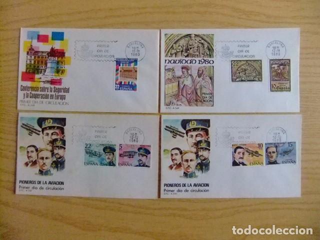 Sellos: ESPAÑA SPAIN ESPAGNE 1980 FDC AÑO COMPLETO sin HOJAS BLOQUE 22 FDC - Edifil nº 2558 /2598 VER FOTOS - Foto 7 - 75662531
