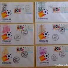 Sellos: ESPAÑA ESPAGNE1980 FDC CAMPEONATO MUNDIAL DE FUTBOL1982 14 FDC DIFERENTES. Lote 75664219