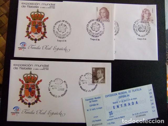 Sellos: ESPAÑA FDC 1984 FAMILIA REAL ESCUDO de ARMAS EXPOSICIÓN MUNDIAL de FILATELIA 84 - Foto 3 - 75757919