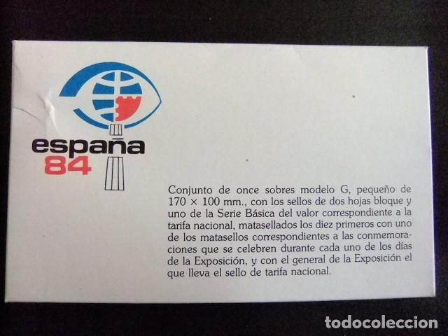 Sellos: ESPAÑA FDC 1984 FAMILIA REAL ESCUDO de ARMAS EXPOSICIÓN MUNDIAL de FILATELIA 84 - Foto 4 - 75757919