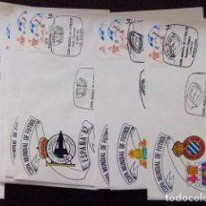 Sellos: ESPAÑA ESPAGNE FDC 1982 COPA MUNDIAL DE FUTBOL CONJUNTO DE 52 FDC SOBRES CON EL MATASELLOS DE CADA P. Lote 75758315