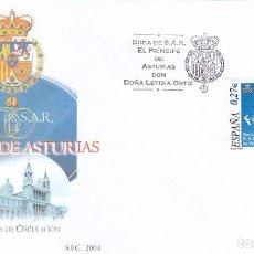 BODA SAR PRINCIPE ASTURIAS CON DÑA LETIZIA ORTIZ 2004 (EDIFIL 4084) EN SPD DEL SERVICIO FILATELICO.
