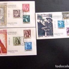 Sellos: ESPAÑA ESPAGNE 1962 FDC 141-144 PINTURAS DE ZURBARAN EDIFIL 1418 -1427 YVERT 1083 /1092. Lote 76100063