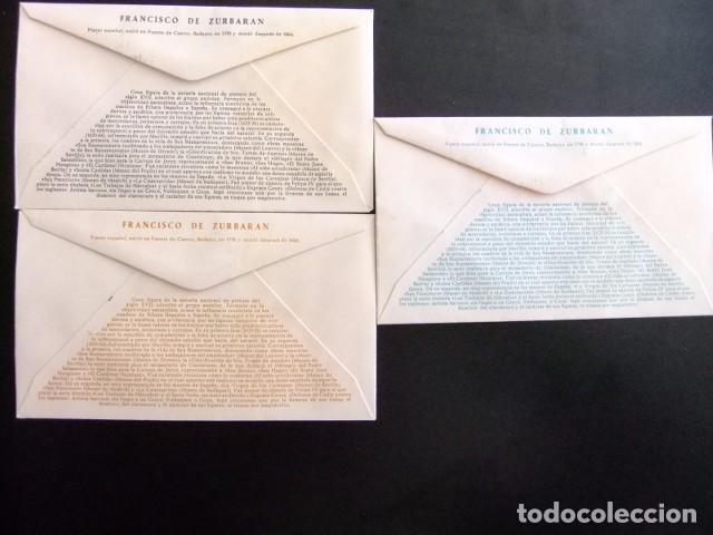 Sellos: ESPAÑA ESPAGNE 1962 FDC 141-144 PINTURAS DE ZURBARAN edifil 1418 -1427 Yvert 1083 /1092 - Foto 2 - 76100063