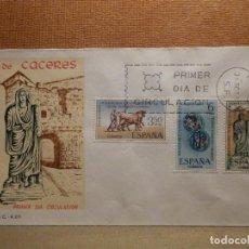 Sellos: EDIFIL 1827 Y 1829 - FUNDACION DE CÁCERES- 31-10-1967 - SOBRE PRIMER DIA CIRCULACIÓN - S.F.C.- A.271. Lote 77465385
