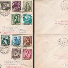 Sellos: EDIFIL 1418/27, PINTORES: ZURBARAN, PRIMER DIA DE 24-3-1962 PANFILATELICAS CIRCULADO. Lote 78031561