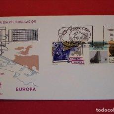 Sellos: SOBRE PRIMER DIA- EUROPA CEPT , OLYMPUS , ESA - MATASELLO - MADRID 1991.. R-5051. Lote 78835325