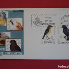 Sellos: SOBRE PRIMER DIA - PAJAROS - MATASELLO- MADRID 1985... R-5059. Lote 78838117