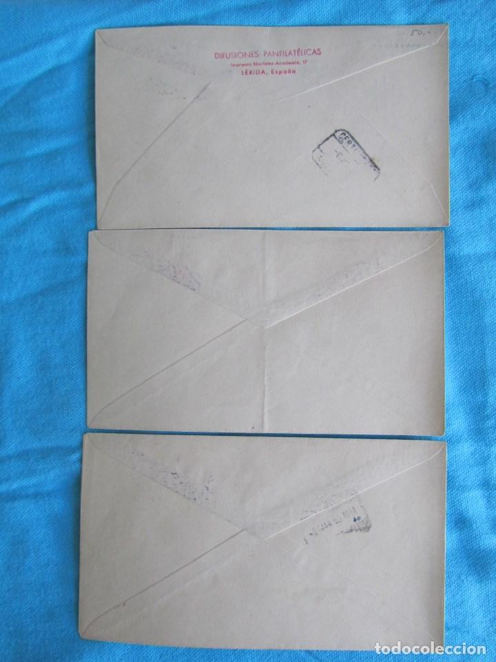 Sellos: 1950. Tres sobres primer día. San Juan de Dios - Foto 2 - 79613089
