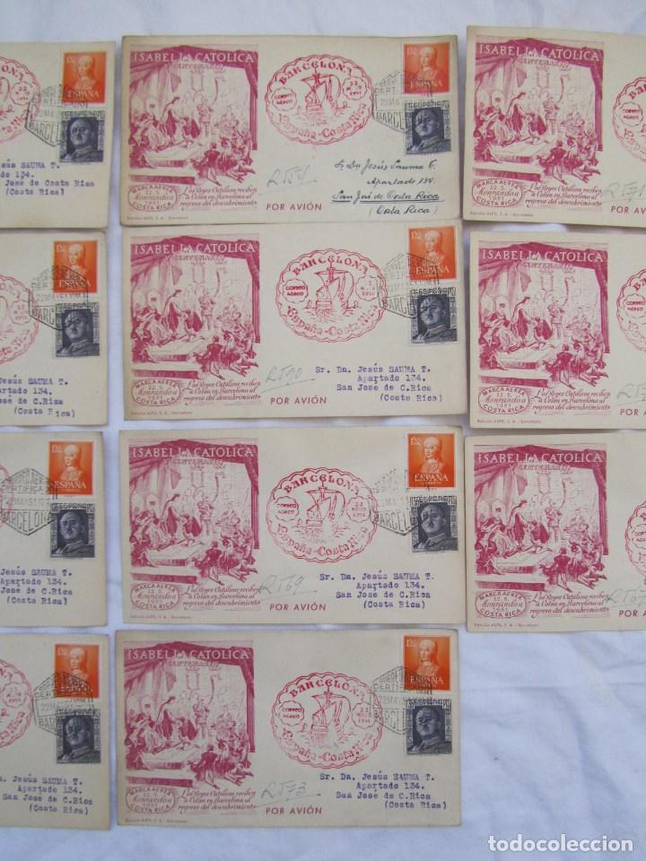 Sellos: 1951. Once sobres primer día V Centenario Isabel la Católica - Foto 3 - 79614477