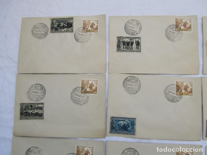 Sellos: 1962. Diecisiete sobres de primer día Feria Internacional del Campo congreso veterinaria Zootecnia - Foto 2 - 79618161
