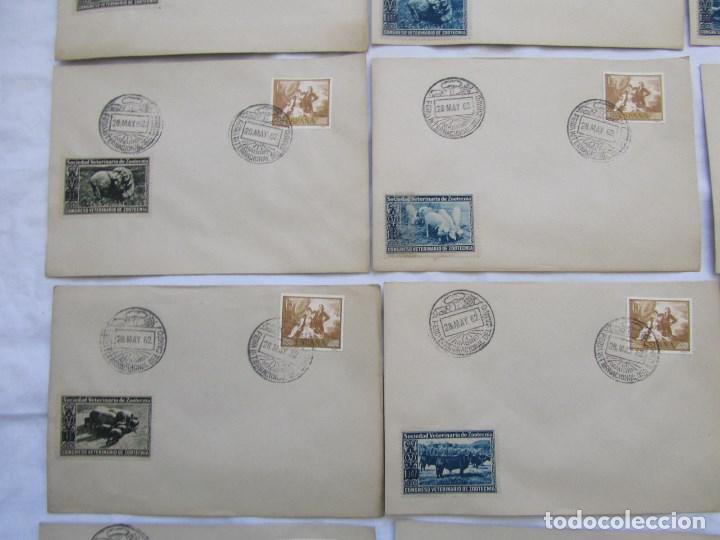 Sellos: 1962. Diecisiete sobres de primer día Feria Internacional del Campo congreso veterinaria Zootecnia - Foto 4 - 79618161