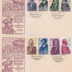 Sellos: FORJADORES DE AMERICA 1961 (EDIFIL 1374/81) EN DOS SOBRES PRIMER DIA SERVICIO FILATELICO DE CORREOS.. Lote 80385105