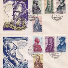 Sellos: FORJADORES DE AMERICA 1961 (EDIFIL 1374/81) EN DOS SOBRES PRIMER DIA DE DP. BONITOS Y RAROS ASI. . Lote 80385749