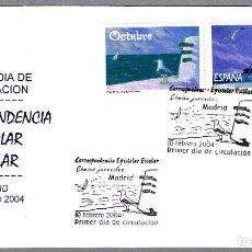 Sellos: MATASELLOS PRIMER DIA - CORRESPONDENCIA EPISTOLAR ESCOLAR. MADRID 2004. Lote 81196780